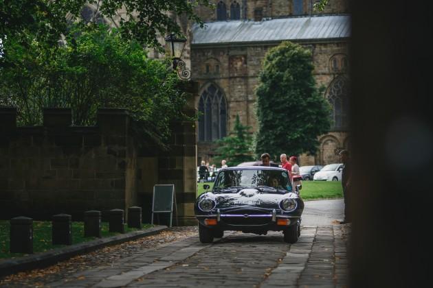 018 Durham-Wedding-Photographer-Stan-Seaton-Bride-arriving-in-Jaguar.JPG