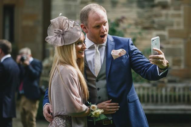 044 Durham-Castle-Wedding-Photographer-Stan-Seaton-guest-selfie.JPG