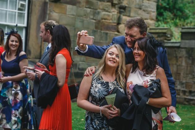 049 Durham-Castle-Wedding-Photographer-Stan-Seaton-guest-selfie.JPG