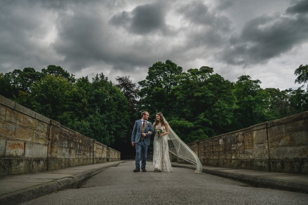 056 Durham-Castle-Wedding-Photographer-Stan-Seaton-bride-and-groom-on-Prebends-bridge.JPG