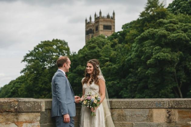 057 Durham-Castle-Wedding-Photographer-Stan-Seaton-bride-and-groom-on-Prebends-bridge.JPG