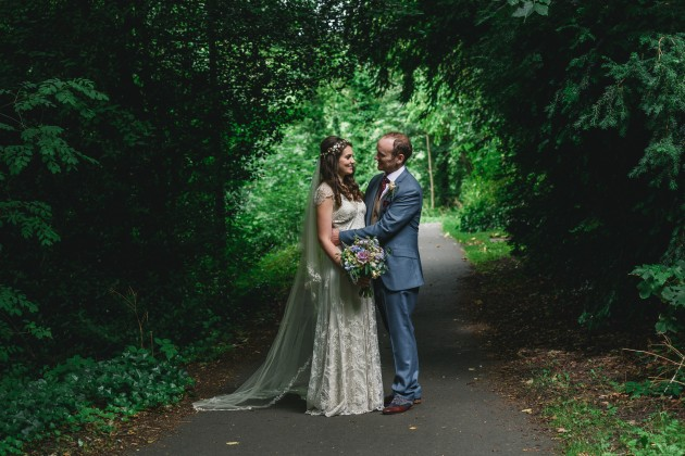 062 Durham-Castle-Wedding-Photographer-Stan-Seaton-Bride-and-groom-in-the-Woods.JPG