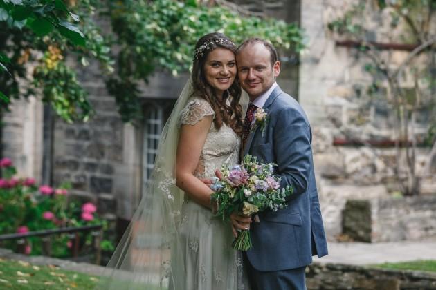 073 Durham-Castle-Wedding-Photographer-Stan-Seaton-Bride-and-groom-in-Hatfield-College-Garden.JPG