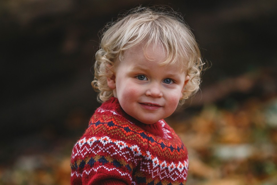 Location Photography Shoot Blonde haired little boy